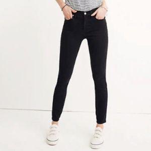 "Madewell 9"" Mid Rise Skinny Jeans in Lunar Wash"